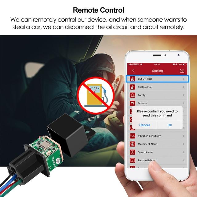 Mini GPS Tracker Car Tracker Micodus MV720 Relay Hidden Design Cut Off Fuel Car GPS Locator 9-90V 80mAh Vibrate Alert Free APP 5