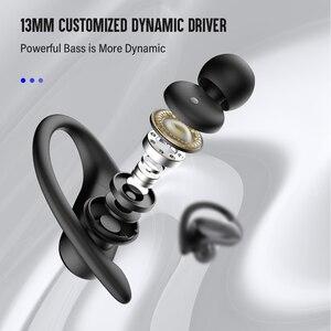 Image 4 - DACOM G05 auriculares TWS, inalámbricos por Bluetooth, Auriculares deportivos para correr, auriculares estéreo con gancho para la oreja para iPhone y Samsung