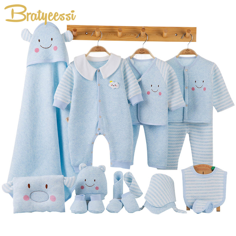 New Cotton Baby Girl Clothes Winter Autumn Newborn Clothes Set Baby Boy Clothing Cartoon Print New Born Gift Infant Clothing