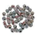 10 шт. DIY браслет бусины с большим отверстием с бриллиантами, оптовая продажа свободные бусины, бутик, с отделкой из алмазных бусин, аксессуар...
