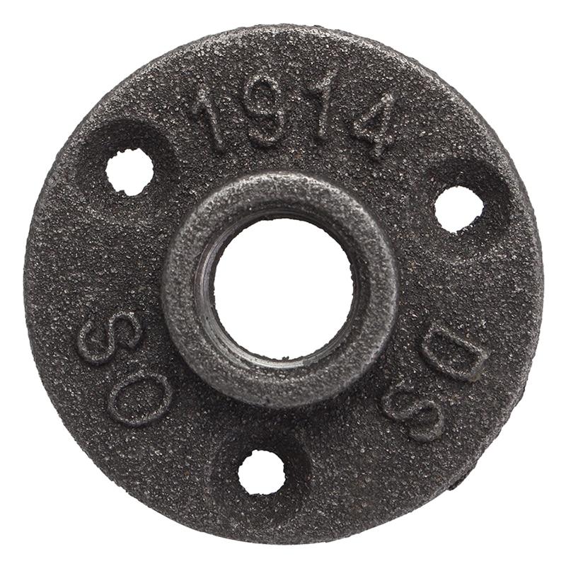 1/2 дюймов черная чугунная труба фитинги напольный фланец BSP с резьбой