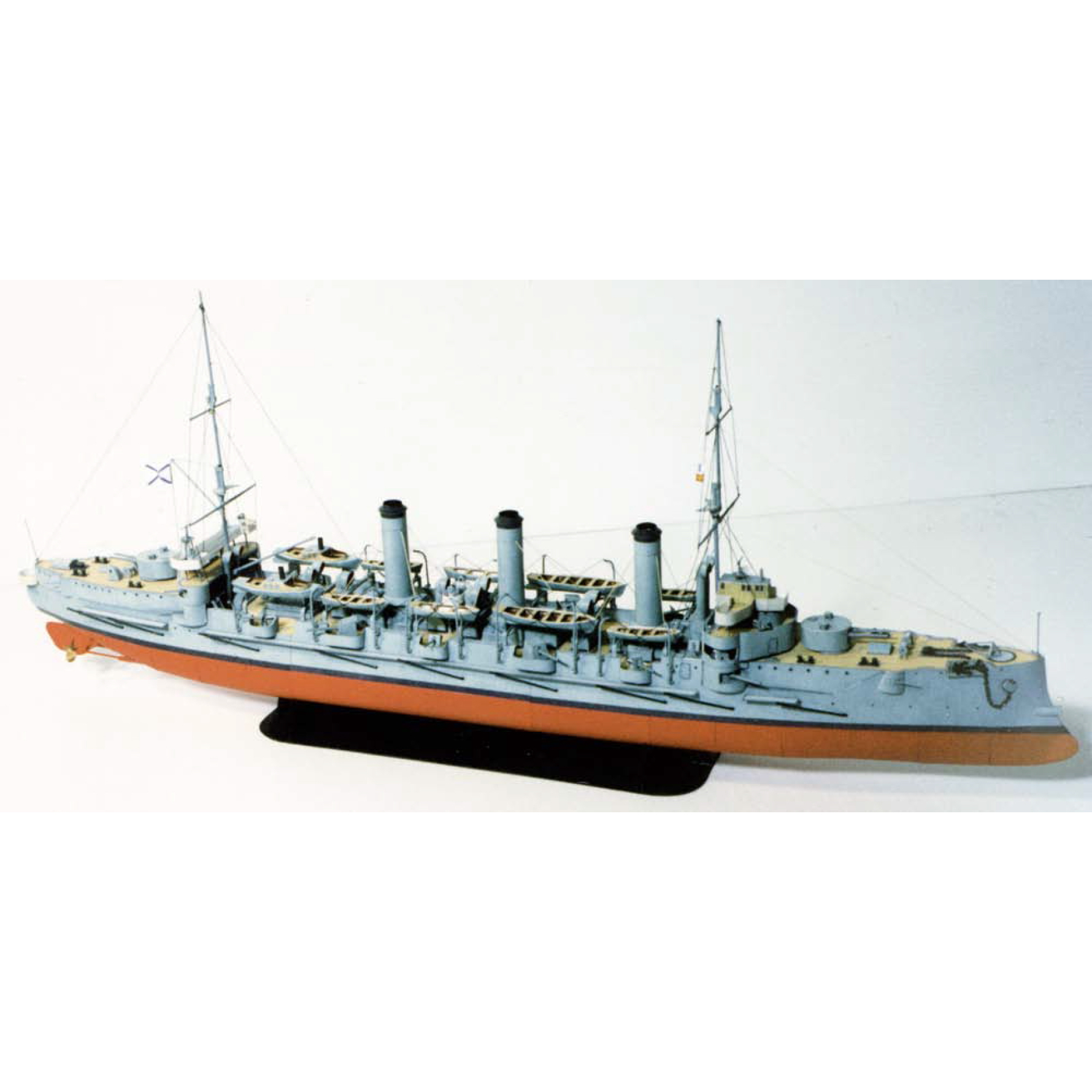 DIY Paper Model 1:250 Ochakov Imperial Russian Navy Assemble Papercraft 3D Puzzle Game Education Toy