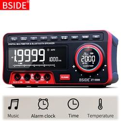 Mini bureau multimètre BSIDE ZT-5566 double écran EBTN 19999 affichage Multimetro + haut-parleur sans fil tension courant Cap Hz testeur