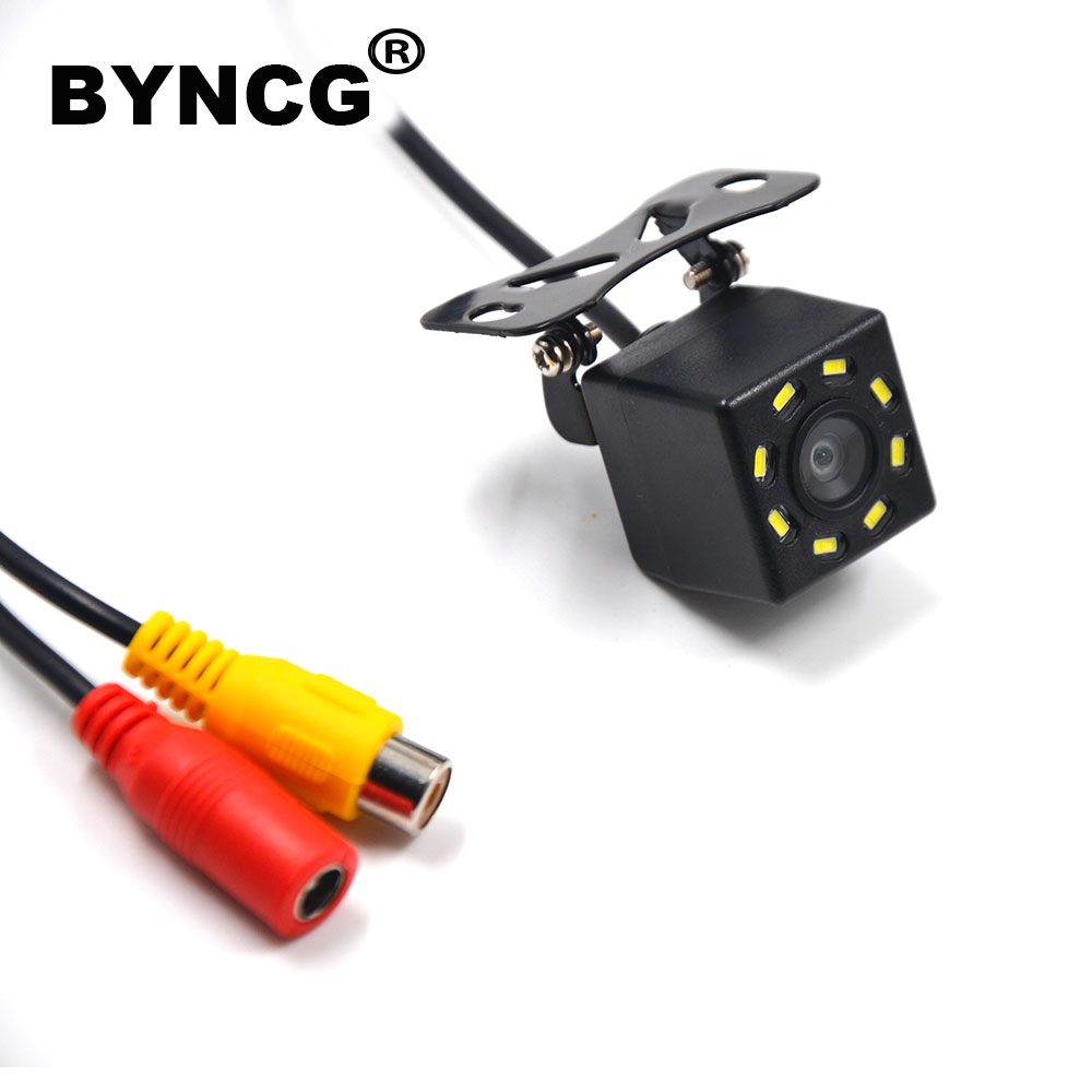 BYNCG Car Rear View Camera 8LED Night Vision Waterproof  Universal Backup Parking Camera  170 Wide Angle HD Color Image