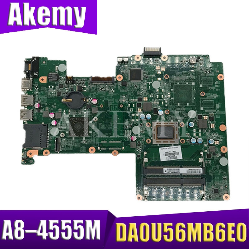For HP Pavilion 15-B 15-Z Series 709175-001 709175-501 709175-601 DA0U56MB6E0 UMA A70M A8-4555M Laptop Motherboard Tested