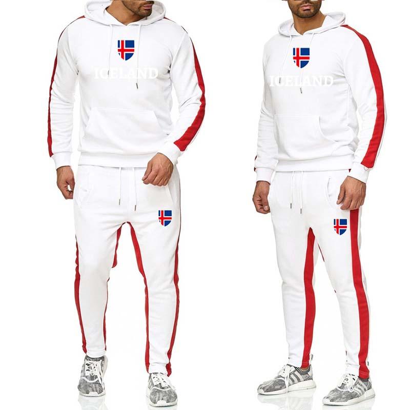 Fashion Men's Hooded Sweatshirt 2019 Winter Casual Flag Printing Hooded Sweatshirt Men's Solid Color Street Clothing