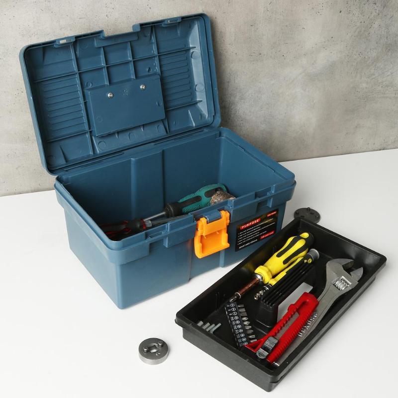 Multi-Function Tool Box Home Vehicle Maintenance Hand-Held Art Hardware Repair Tool Box Case Storage Hand Tool Packaging E5M1