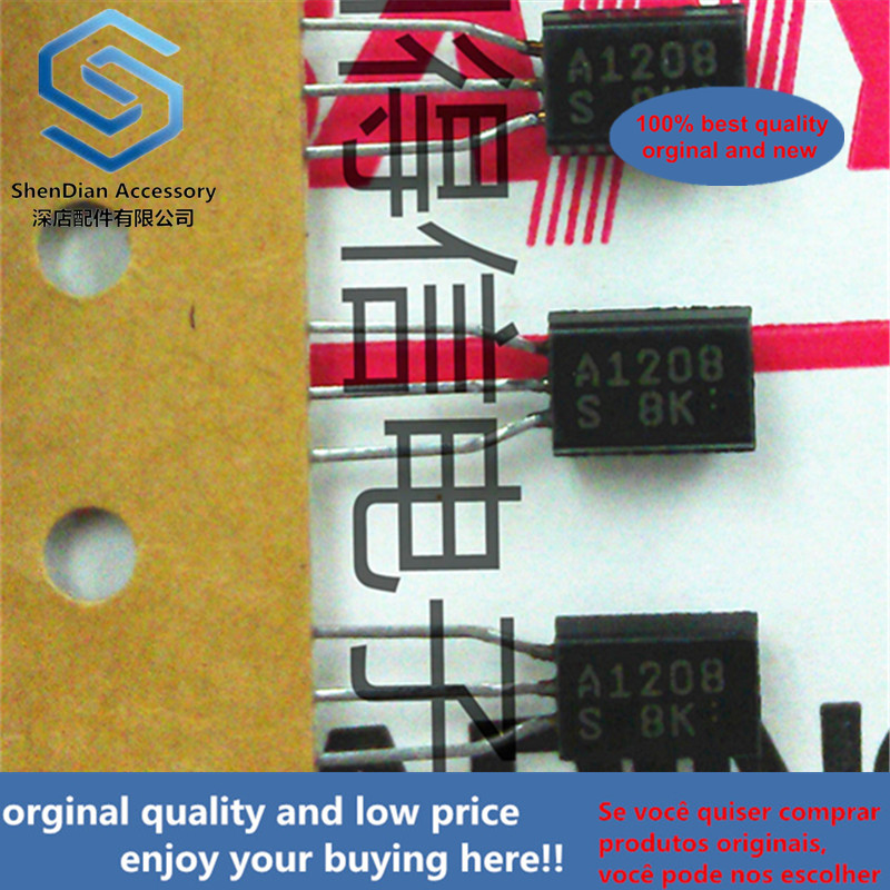 10pcs 100% New And Orginal 2SA1208 A1208 TO-92L High-Voltage Switching, Audio 80W Output Predriver Applications  In Stock