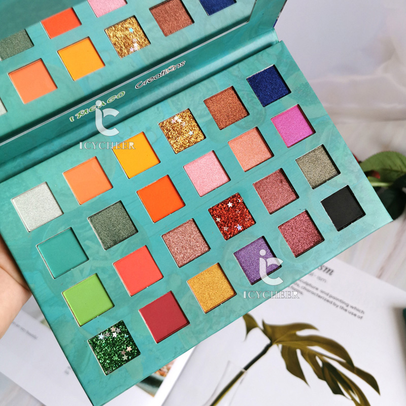 ICYCHEER 24 Color Studio Matte Eyeshadow Power Palette Glitter Highlighter Shimmer Make Up Pigment Eye Shadow Pallete