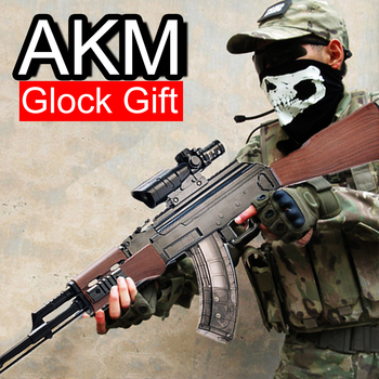 New Hot Sale Children's Toy Water Bullet Gun Pistol Water Bullet Soft Bullet Gun Parent-child Mutual Toy AKM AK 47 High Quality