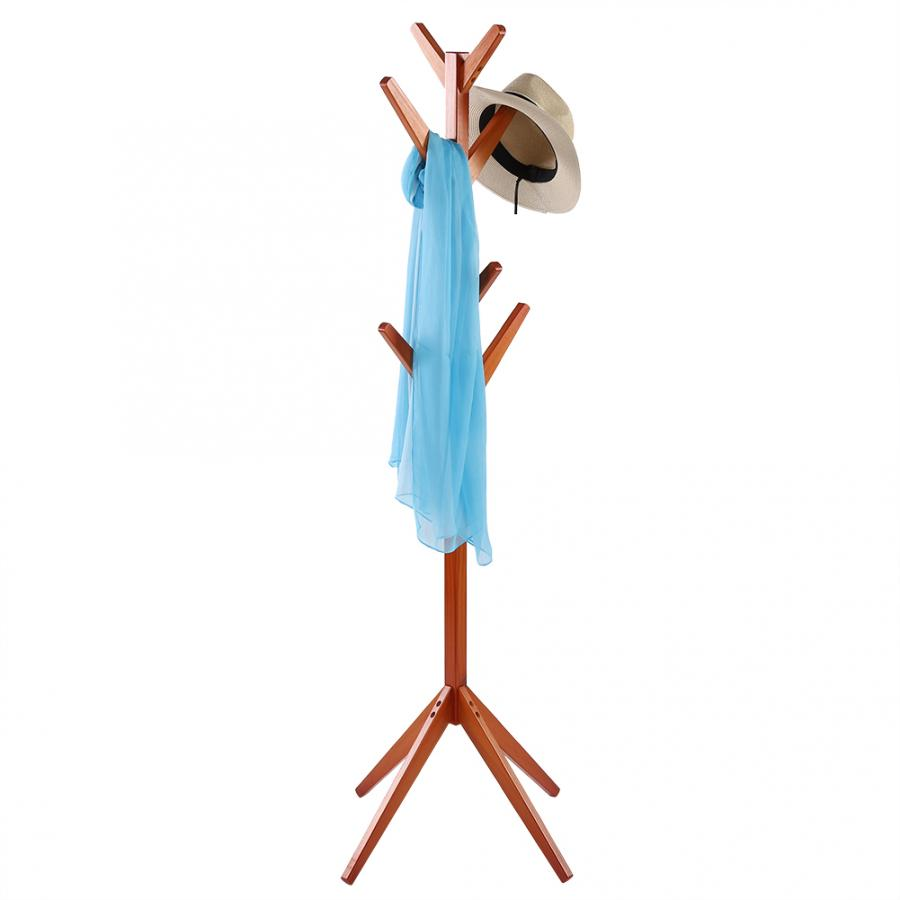 Image 3 - Pine Coat Clothing Rack Clothes Scarfs Hanging Stand Disassembled Hanger for Home Use Coat Pine Rack-in Hangers & Racks from Home & Garden