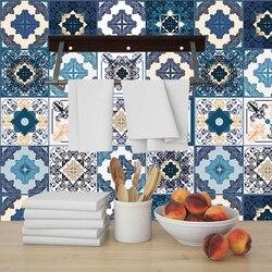 Fayans duvar Sticker masaları banyo çekmece mutfak ev dekor duvar çıkartmaları su geçirmez sanatsal fresk Poster arapça tarzı seramik PVC
