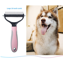 New Double Sided Pet Fur Hair Removal Comb Knot Cutter Dog Grooming Shedding Tools Pet Cat Hair Removal Comb Brush Pet Products pet hair removal brush comb pet grooming tools trimming hair shedding trimmer combs supply furmins for matted long hair cat dog