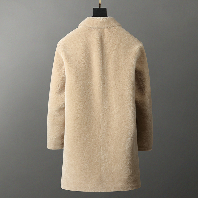 Real Fur Coat Men Sheep Shearing Long 100% Wool Jacket Casual Winter Coat Men Kurtki Zimowe Meskie D91-KZ98-09 KJ3756