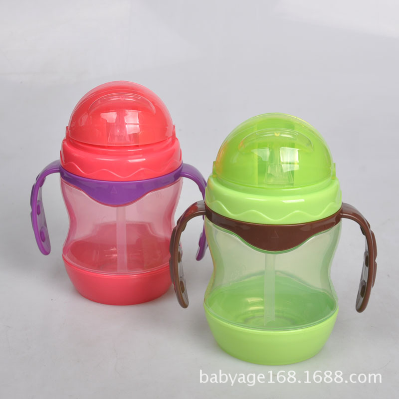 Duck Head Double Color Infant Kettle Cup With Straw Leak-Proof Anti Choking CHILDREN'S Kettle Sippy Cup Training Glass