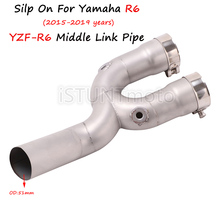 Buy Silp On For Yamaha R6 YZF-R6 2015 2016 2017 2018 2019 year Motorcycle Exhaust Muffler Escape Modified Connector Middle Link Pipe directly from merchant!