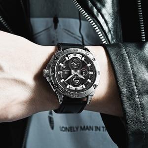 Image 2 - BENYAR メンズ腕時計ゴールド腕時計男性クォーツ時計軍 Wriswatch メンズトップブランドの高級クロノグラフ時計レロジオ Masculino