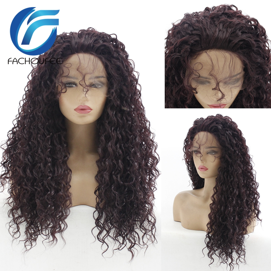 180% Density Black Color Lace Front Wigs With Baby Hair Jerry Curly Realistic Glueless Synthetic Hair Wig Natural Hairline