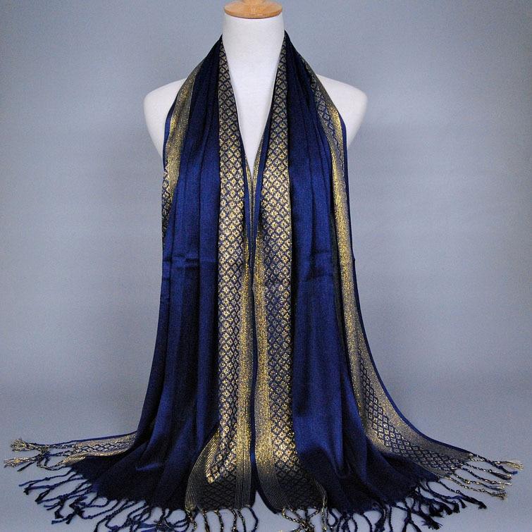 Women New Sale Tassels Cotton Lurex Plaid Stripe Scarf Long Hijab Muslim Scarves/scarf Blanket Scarf Winter Scarf Women