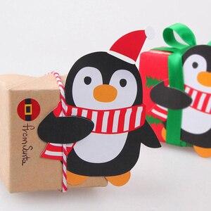 Image 4 - Bộ 50 Ông Già Noel Chim Cánh Cụt Lollipop Nơ Giáng Sinh Lolly Đường ổ bánh Quà Giáng Trang Trí Tiệc Quà Tặng Cho Gia Đình 2018 Trang Trí