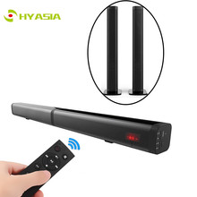 HYASIA 2 in 1 Detachable Bluetooth Soundbar TV 40w LED Wireles Speaker Home Theater AUX Sound bar 5.0 Support USB