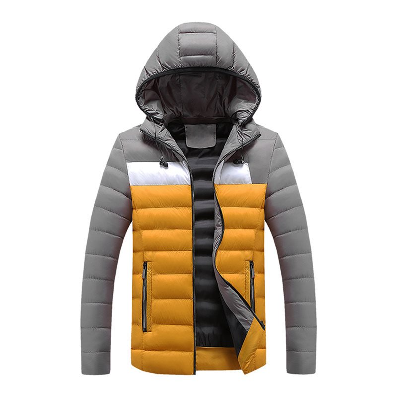 Men Plus Size   Down   Jacket Moto & Biker Warm Plus Velvet Thick Heated Jacket Punk Casual Hooded   Coat   2019 Winter Men Fashion