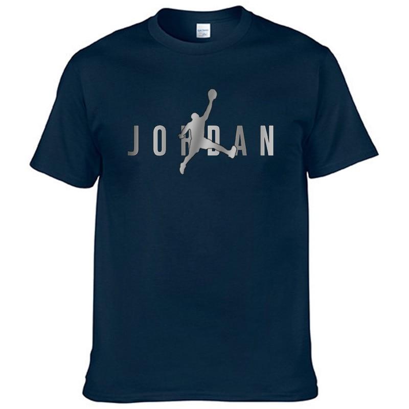 Camisa de manga curta masculina solta camiseta masculina branca amarela camisa de verão nova camisa de verão da marca jordan-23
