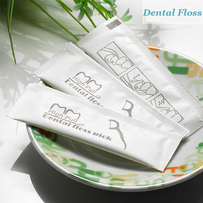 50 個ポータブル歯科フロス歯は口腔ケア衛生つまようじ個別パッケージポリエチレンで歯科フロッサをボックス