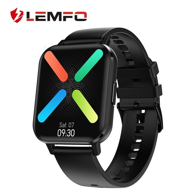 LEMFO DTX ECG Smart Watch 2020 1.78 Inch Big 420*485 HD 2.5D Screen IP68 Waterproof Weather Dual Modes Smartwatch Men Women 1