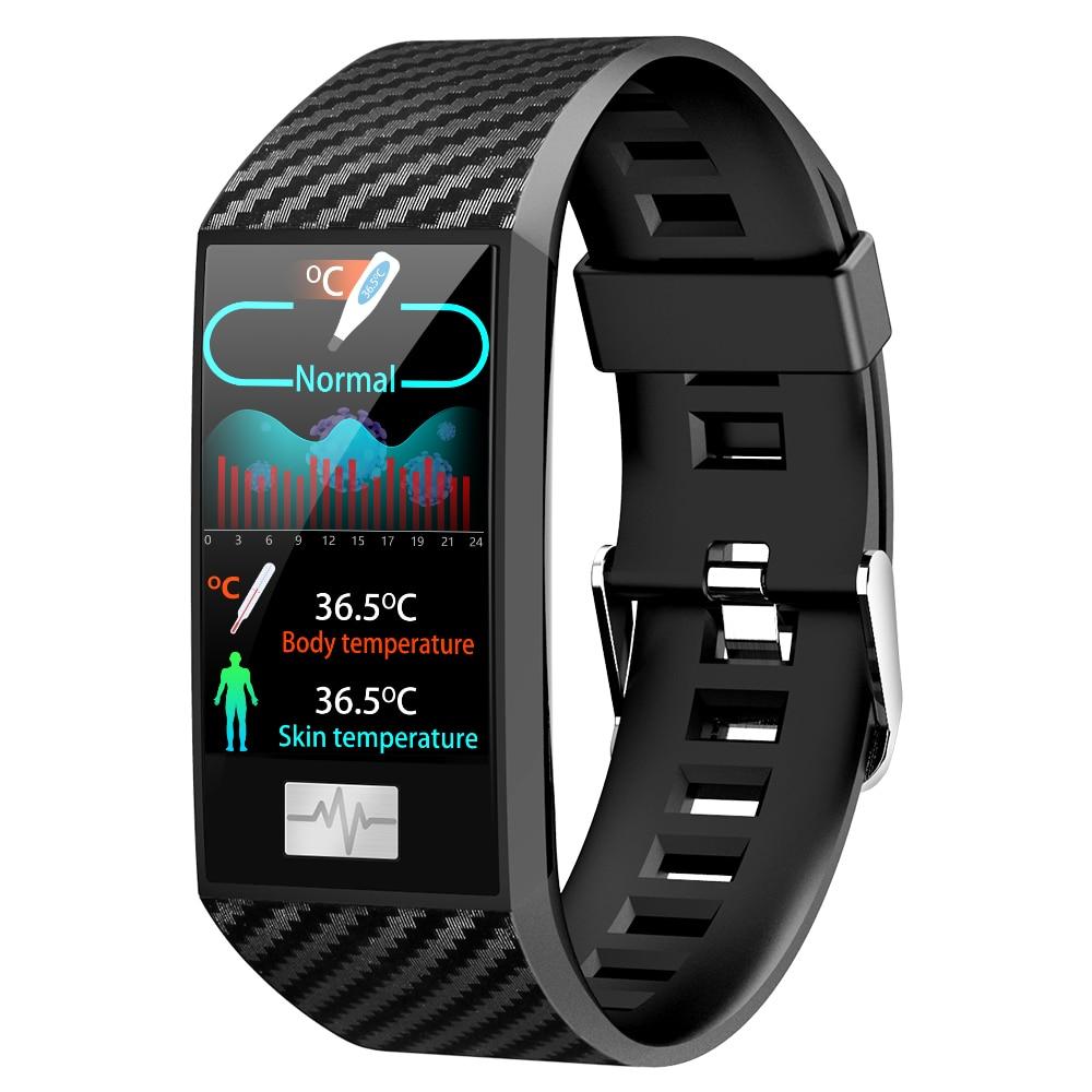 DT58 Pro смарт-браслет IP68 водонепроницаемый датчик температуры тела ЭКГ пульса артериального давления фитнес-трекер спортивные Смарт-часы