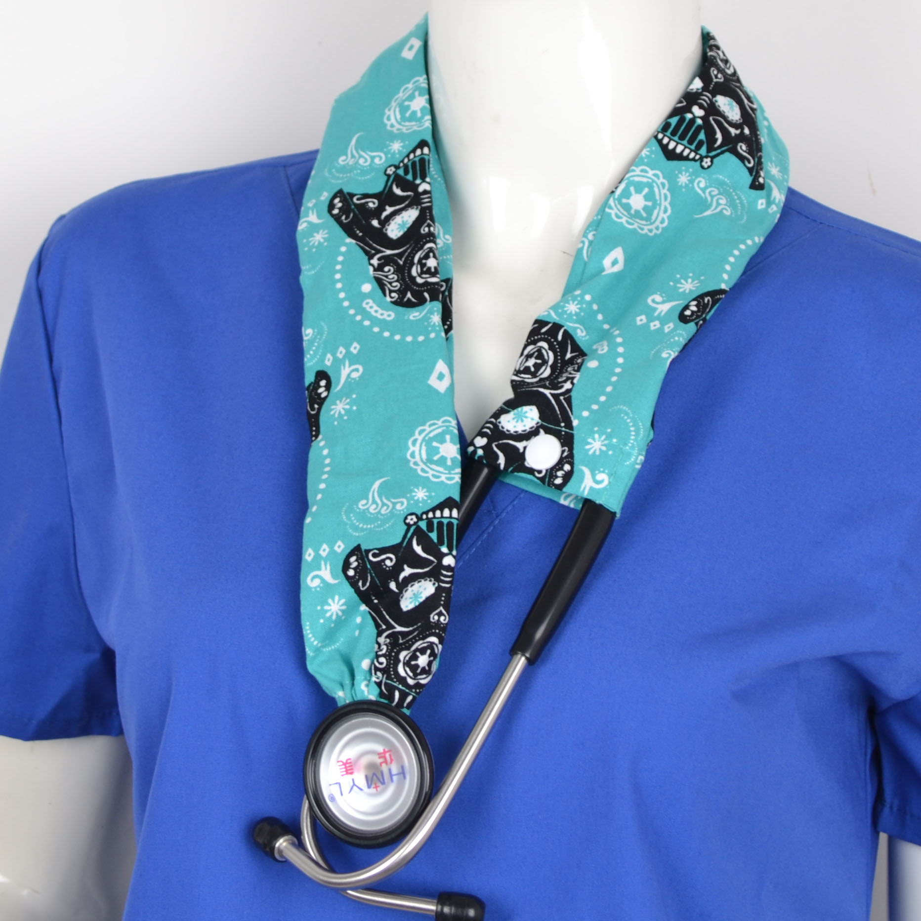 Medical Stethoscope Cover Cotton Material In Blue