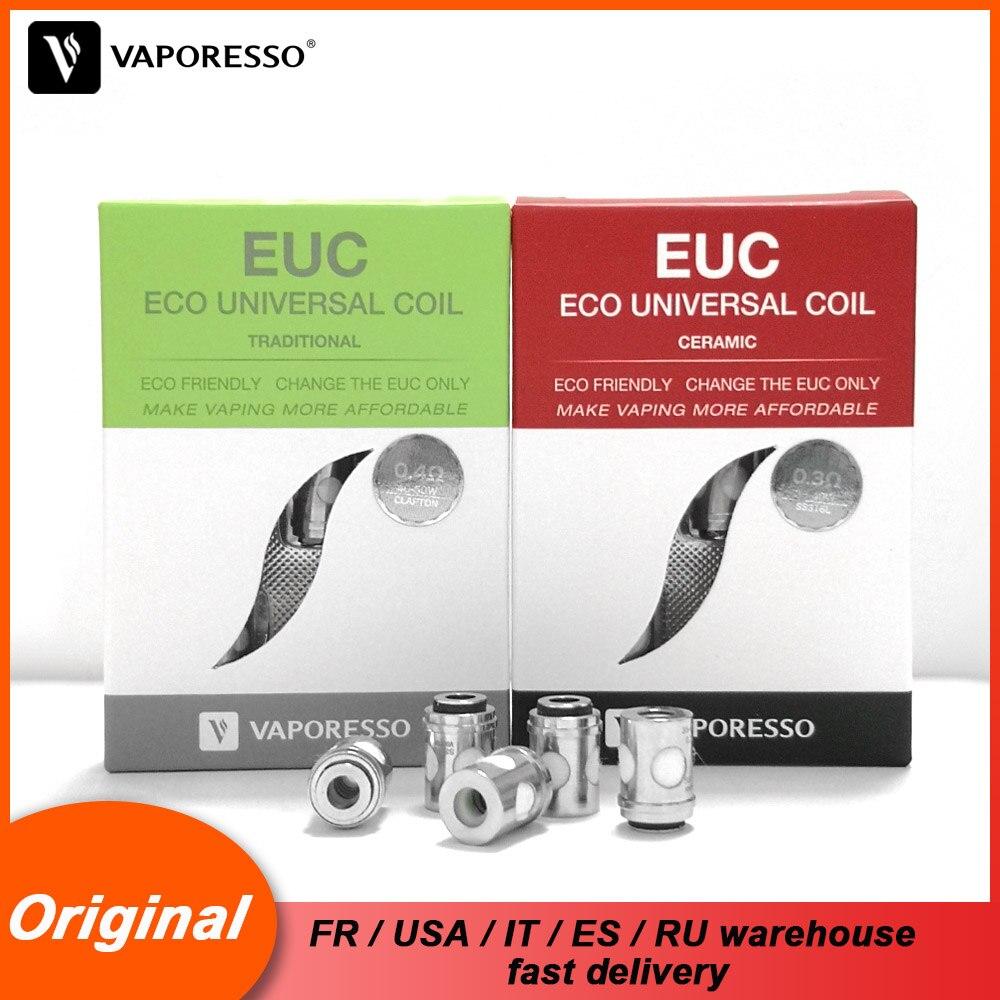 Original Vaporesso EUC Ceramic Traditional Coil SS316L CLAPTON 0.3 0.5 0.6 1.3 Coil Head For Tarot Nano Nebula Estoc Target Pro