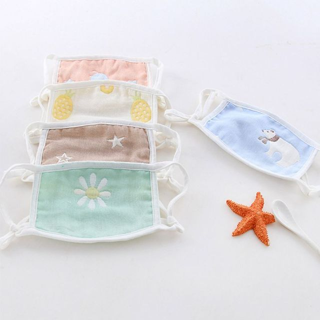 1pc Cute Cartoon Washable Reusable Children's Cotton Mask for Boys Girls Prevent Flu Facial Masks Protective Face Mask 1
