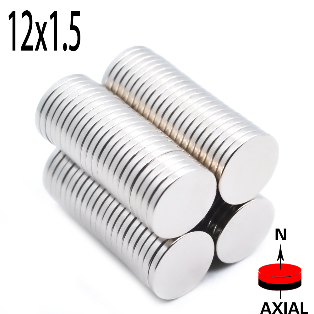 Wholesale 1000pcs 12mm x 1.5mm Strong Round Cylinder Magnets 12x1.5 Rare e Art H Neodymium New 12 * 1.5 Art Craft Joints