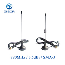 780MHz Sucker Antenna with Magnetic Base 3.5dBi Wireless Module Omni-directional Data Transmission Antena SMA Male TX780-XPL-100