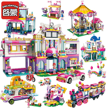 Enlighten Colorful Holiday Building Blocks City Model Playground Legoingly Bricks Toys For Friends And Children Christmas Gifts