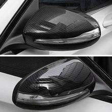 2 pçs lhd para mercedes benz c w205 e w213 glc-class x253 s classe w222 abs espelho retrovisor do carro capa guarnição acessórios