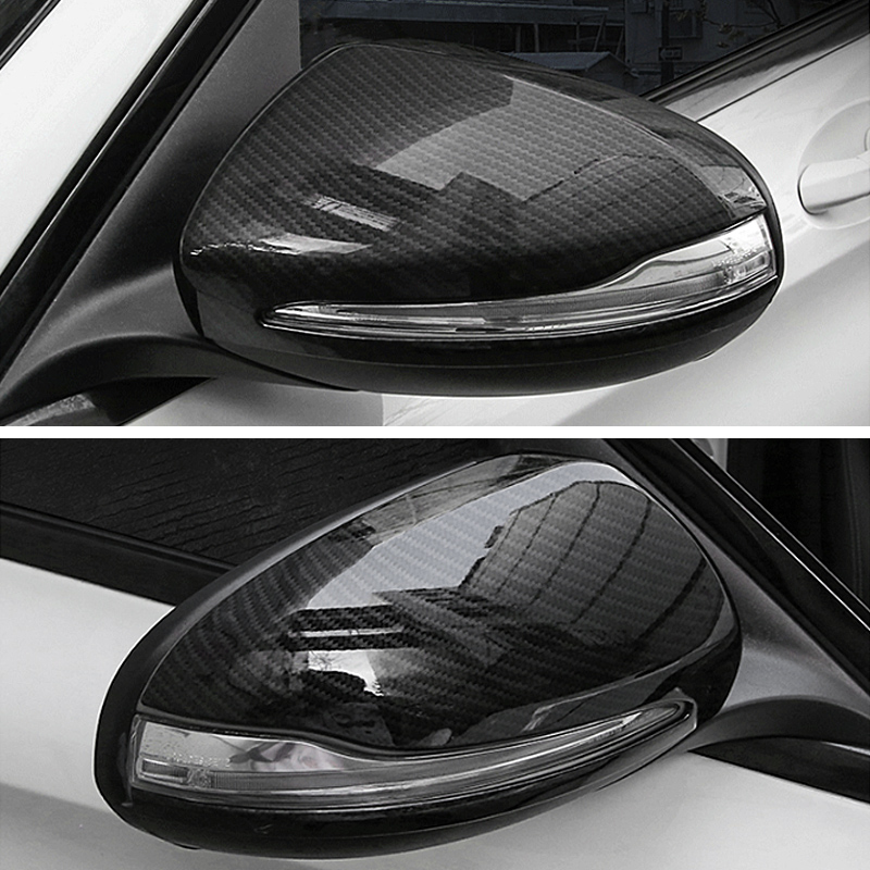 2 Pcs LHD For <font><b>Mercedes</b></font> <font><b>Benz</b></font> C W205 E <font><b>W213</b></font> GLC-Class X253 S Class W222 ABS Car Rearview Mirror Cap Cover Trim <font><b>Accessories</b></font> image