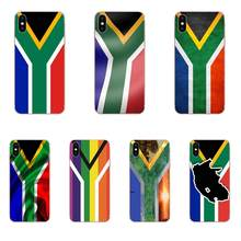 South Africa National Flag Phone Case Transparent Fundas Coque Cover For Apple iPhone 4 4S 5 5C 5S SE 6 6S 7 8 Plus X XS Max XR(China)