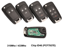 XZCFOR 2/3/4/5 boutons voiture clé à distance bricolage pour OPEL/VAUXHALL Astra J Corsa E Insignia Zafira C 2009-2016 315/433 MHz PCF7937E(China)