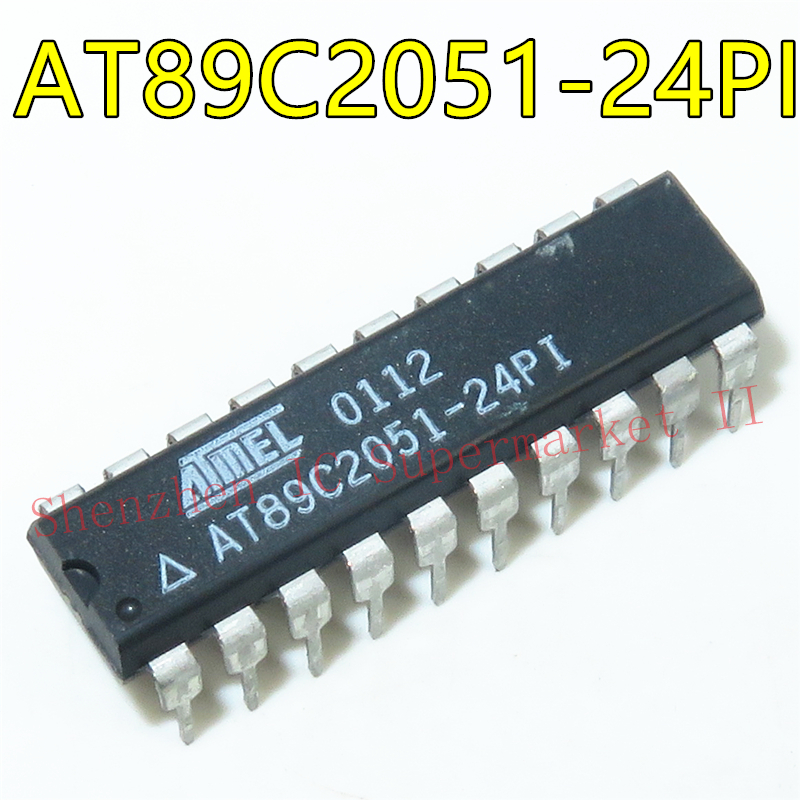1PCS AT89C2051 AT89C2051-24PI AT89C2051-24PU AT89C2051-24PC 89C2051 IC DIP-24