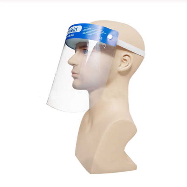 1PCS Transparent Splash-proof Protective Face Shield Adjustable Full Face Protective Dust Mask  Saliva Protection Clear Visor 4