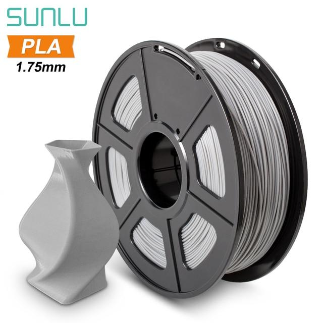 SUNLU 1.75mm PLA/PLA Plus 3D 압출기 필라멘트 1KG 스킨 스풀 플라스틱 필라멘트 FDM 프린터 용 3D 펜 공차 +/ 0.02mm