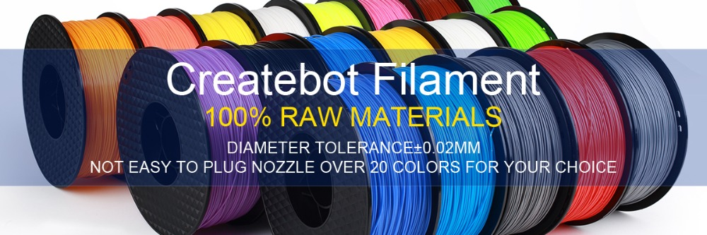 IsMyStore: 3D printer filament PLA 1.75mm Createbot 1kg plastic Rubber Consumables Material colorful Plastic Filament Materials