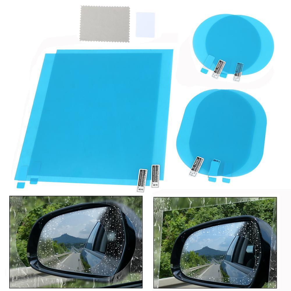 X Autohaux 2 шт. пленка на зеркало заднего вида автомобиля анти-дождь водонепроницаемый против царапин прозрачная защитная пленка для автомобил...