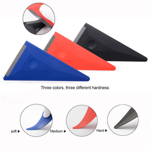 FOSHIO 3PCS/Set Vinyl Film Wrapping Squeegee Soft Edge Auto Wrap Window Tint Carbon Fiber Sticker Install Scraper Kit Car Goods