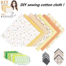 DIY Handmade Cloth Cotton 7x Fabric Printed Cloth Sewing Quilting For Patchwork Needlework Handmade Accessories 25*25cm kitchen lshangnn 2cm 45yards 100% cotton belt herringbone tape package cotton ribbon 26 colours for handmade diy cloth accessories