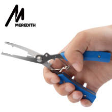 MEREDITH Stainless Steel Blue Fishing Gripper Lure Pliers Multifunction Fish Scissors Line Cutter Fishing Tools
