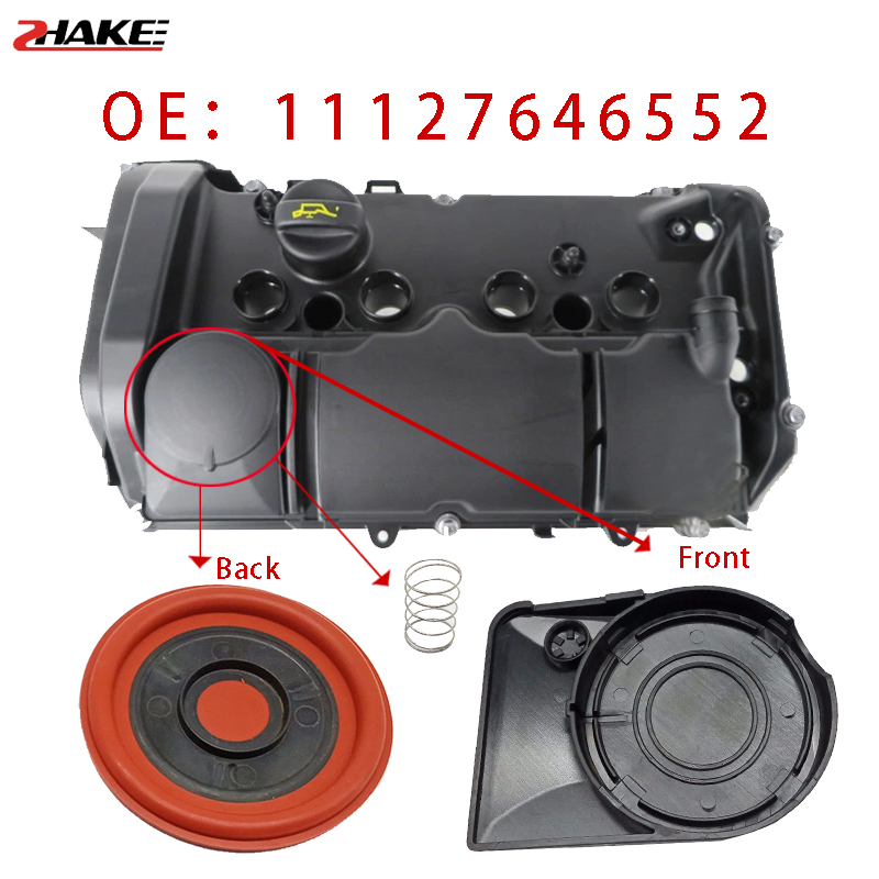 Car Engine Valve Cover Gasket Exhaust Gas Valve 11127646555 11127646552 For Mini Cooper S JCW R55 R56 R57 R58 R59 N13 N18 07-12