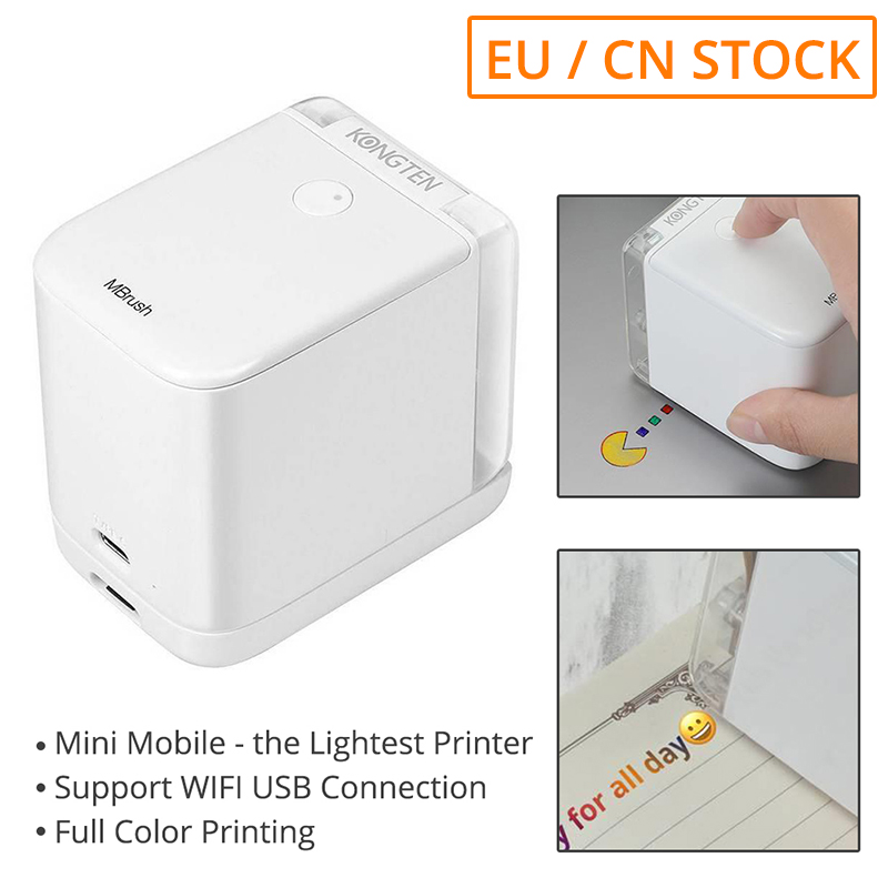 [EU STOCK] Cube Printer Bluetooth WIFI USB Connection Mini Portable Mobile Color Printer Working Time 6Hrs Print On Any Material